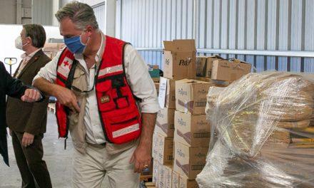 Apoyo del Ministerio de Transporte a la Cruz Roja para el almacenaje de insumos