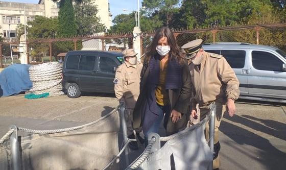 La Ministra de Seguridad inspeccionó el guardacostas Mantilla