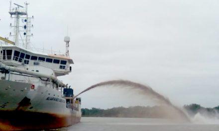 Dragado vital en el río Paraguay que permitirá recuperar la navegabilidad del canal en el tramo binacional