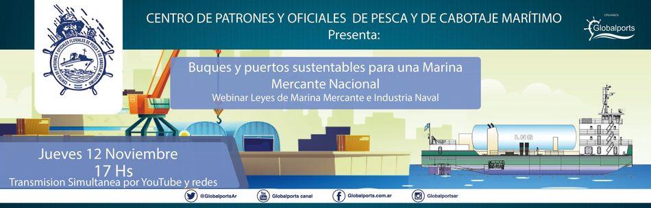 Centro de Patrones: 7mo Webinar  dedicado a las Leyes de la Marina Mercante e Industria Naval