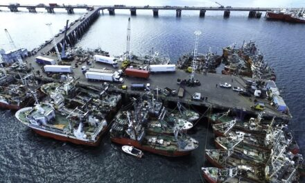 Suspenden la salida de buques del puerto de Rawson hasta nuevo aviso