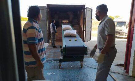 San Luis: Partió la primera exportación de garbanzo hacia Europa