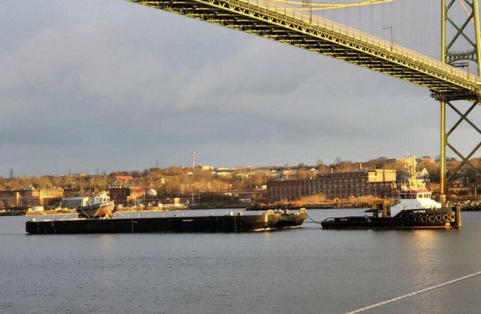 Cinco embarcaciones de Damen han cruzado el Océano Atlántico en un viaje único a Canadá