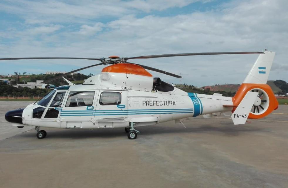 Prefectura recibirá su primer helicóptero Dauphin modernizado