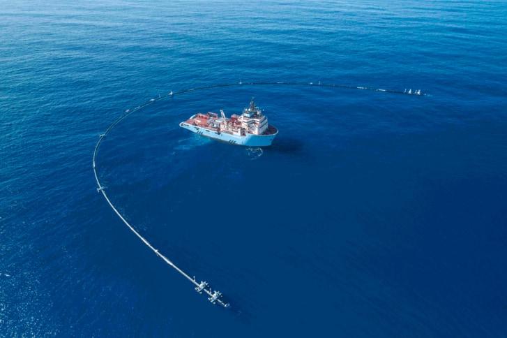 A.P. Moller – Maersk, The Ocean Cleanup amplía la relación con la nueva asociación de tres años