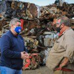 Río Grande: Por primera vez, el Municipio comenzó a exportar chatarra para su reciclado