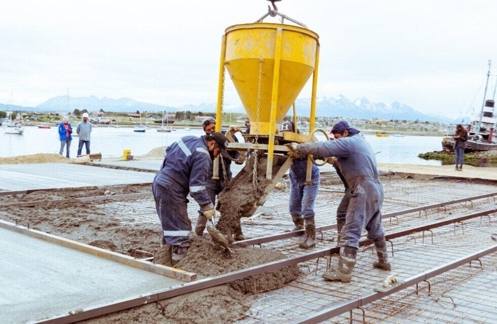 Centro Modular Sanitario: Se iniciaron los trabajos de hormigonado en el muelle comercial de Ushuaia