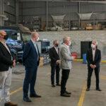 Meoni recorrió  las instalaciones de Volvo en Moreno