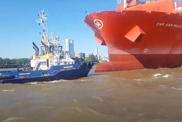 Continua el paro de remolcadores en los puertos
