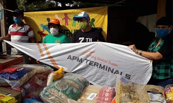 Coronavirus: El programa de RSE de APM Terminals ayuda con alimentos de primera necesidad