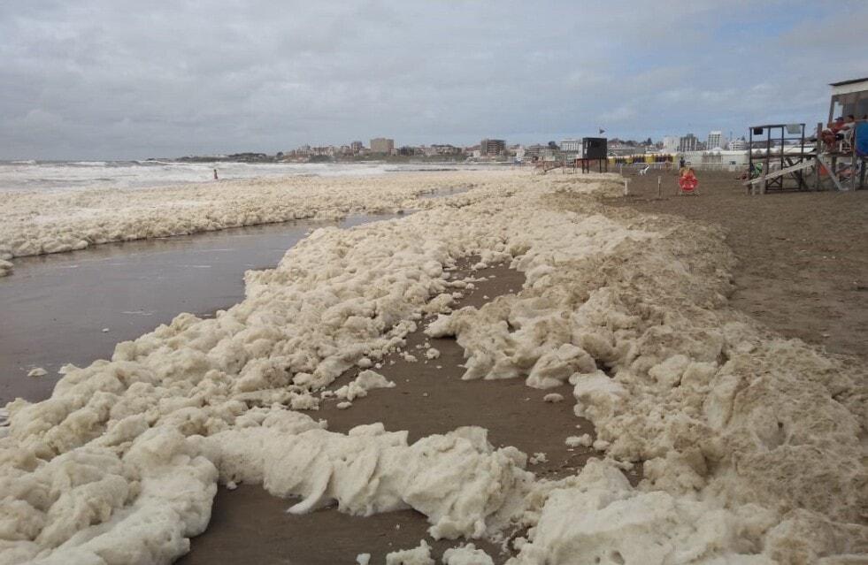 La explicación científica de la espuma que se formó en las costas de Mar del Plata