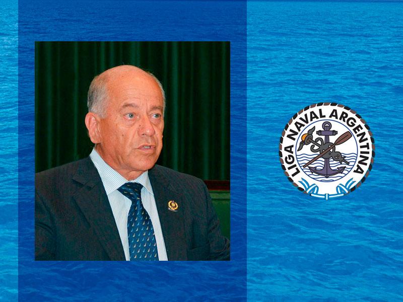 Nota de duelo por la muerte del presidente de la Liga Naval Argentina