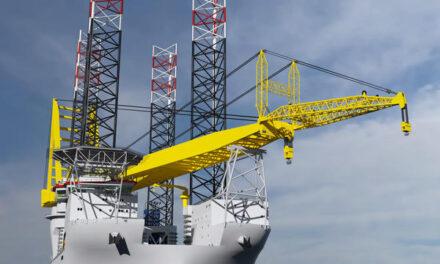 Colocan quilla en buque diseñado para instalación en alta mar