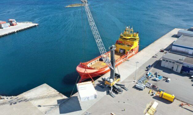 El puerto de Karmsund encarga otro LHM 550 para la terminal de carga Haugesund en Husøy, Noruega
