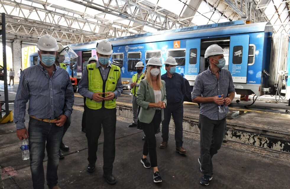 TMH recibió a la vicegobernadora Verónica Magario en los talleres ferroviarios Mechita