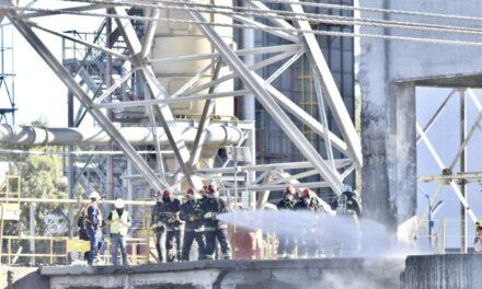El puerto de Bahia Blanca junto con la PNA llevó adelante un nuevo simulacro de emergencia
