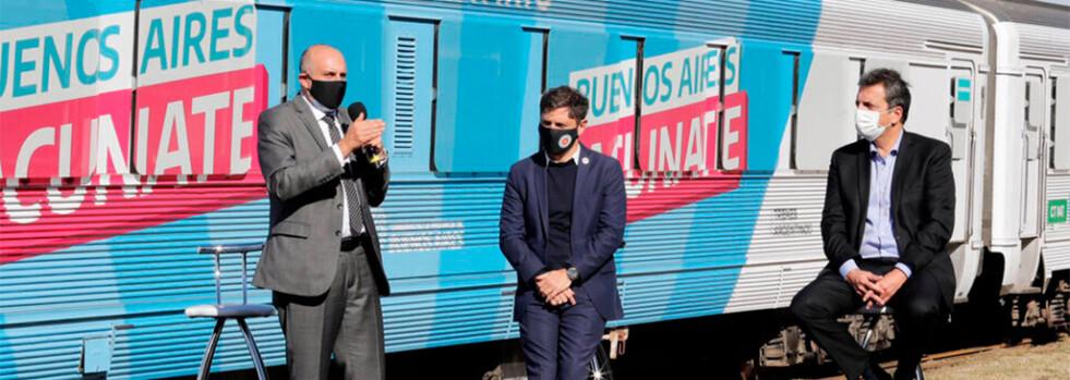 Massa, Guerrera y Kicillof presentaron el Tren Sanitario que realizará hisopados y vacunación
