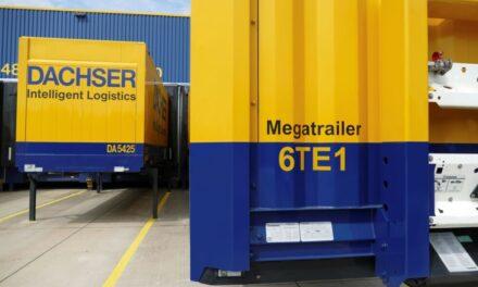"""Dachser crea más espacio de carga con los llamados """"mega trailers"""""""