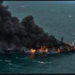 Sri Lanka enfrenta la peor contaminación costera de la historia por la quema de un barco