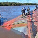 Concepción del Uruguay: buscan retirar un buque hundido