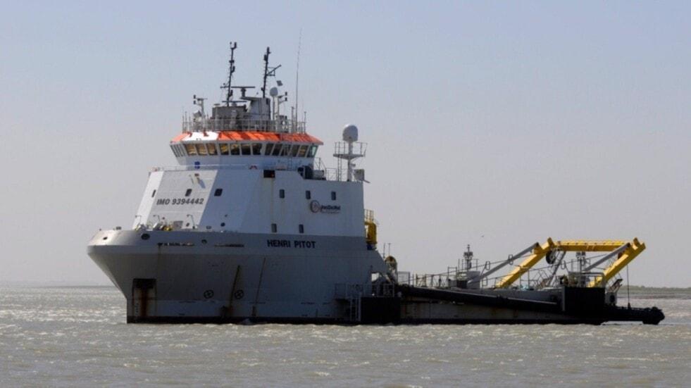 Jan de Nul inició importantes obras de dragado en el estuario de Bahía Blanca