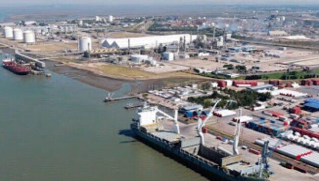 Autoridades del ministerio de transporte recorrieron los puertos de Rosales y Bahía Blanca