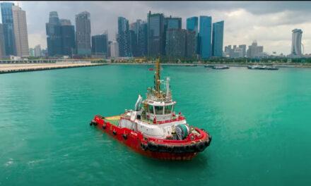 Remolcador funciona bajo control remoto en Singapur