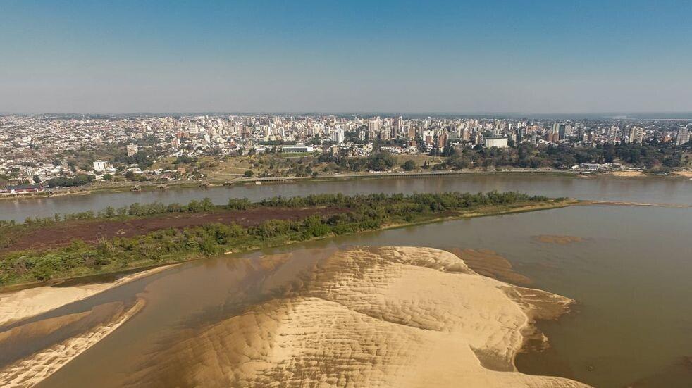 El río Paraná marcó 0 centímetros frente al puerto de la capital entrerriana