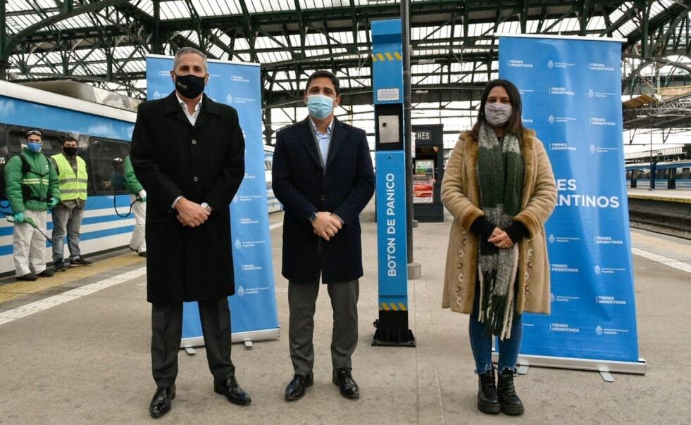 Trenes Argentinos instaló 45 tótems de seguridad en las estaciones de la Línea Roca
