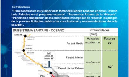 """Programa especial Escenarios Futuros de la Hidrovía, presentación de Luis Palacios """"Decisiones basadas en datos"""""""