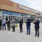 """Guerrera inaugura la Terminal de Navarro  y firma convenio para el Programa """"PAradas Seguras"""""""