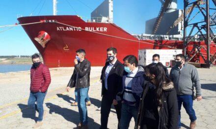 Puerto San Pedro: El subsecretario de Puertos Juan Lucero destacó la operatividad del puerto
