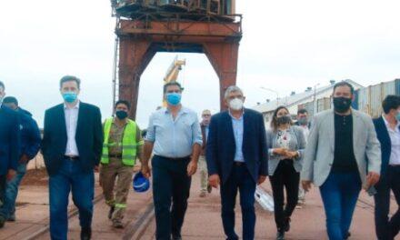 Vía navegable troncal: autoridades de AGP se reunieron  con Jorge Capitanich
