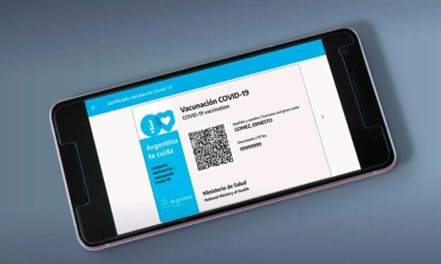 La acreditación internacional de la vacunación contra el COVID-19 será la credencial de vacunación digital de Mi Argentina