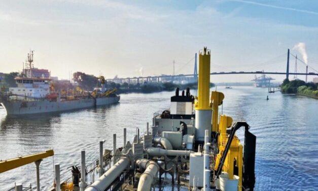 El biocombustible llega a las obras de dragado