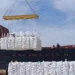 Desde el puerto San Pedro se  vuelve a exportar harina de trigo a Cuba después de 15 años